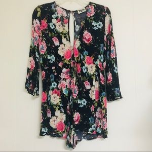 Show Me Your MuMu floral romper small